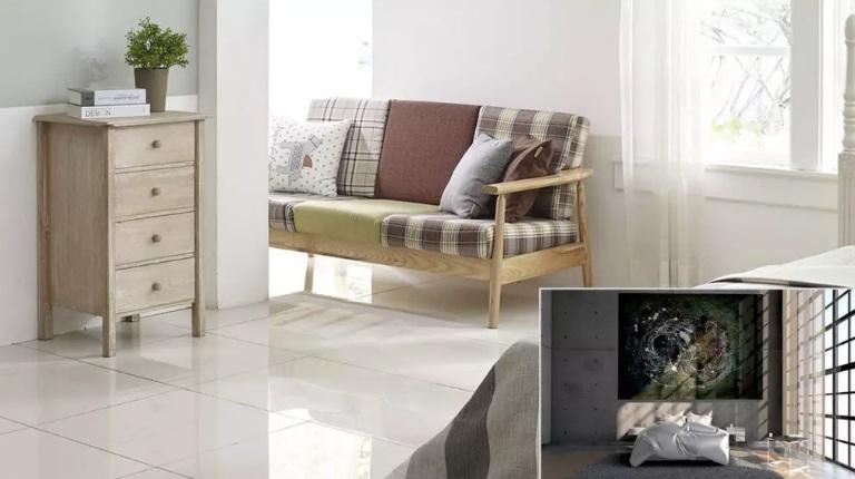 Dormitor cu canapea din lemn